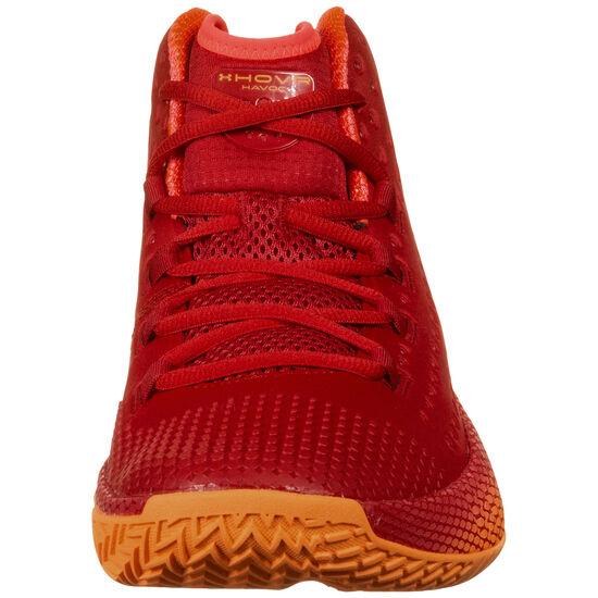 Hovr Havoc 2 Basketballschuhe Herren, rot / orange, zoom bei OUTFITTER Online
