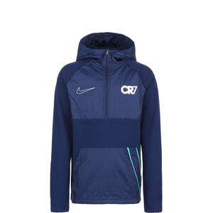 CR7 Dri-FIT Repel Kapuzenjacke Kinder, blau / silber, zoom bei OUTFITTER Online
