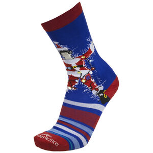 Christmas Vacation Socken, blau / dunkelrot, zoom bei OUTFITTER Online