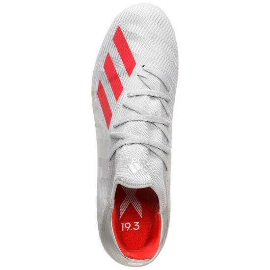X 19.3 AG Fußballschuh Herren, silber / rot, zoom bei OUTFITTER Online