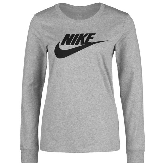 Essential Icon Sweatshirt Damen, dunkelgrau / schwarz, zoom bei OUTFITTER Online