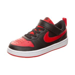 Court Borough Low 2 Sneaker Kinder, schwarz / rot, zoom bei OUTFITTER Online
