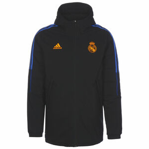Real Madrid Winterjacke Herren, schwarz / blau, zoom bei OUTFITTER Online