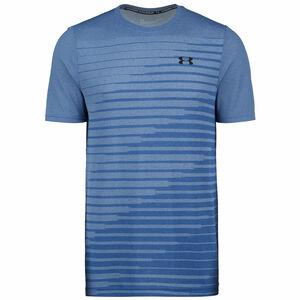 Seamless Fade Trainingsshirt Herren, blau / schwarz, zoom bei OUTFITTER Online