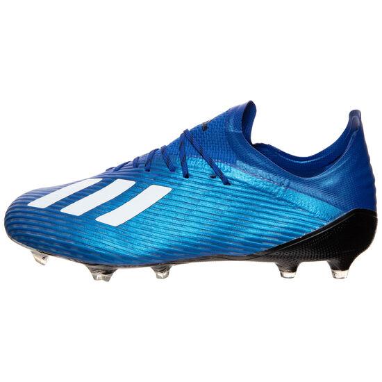 X 19.1 FG Fußballschuh Herren, blau / weiß, zoom bei OUTFITTER Online