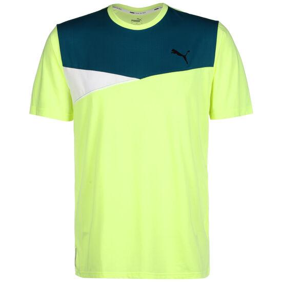 Train Color Block Trainingsshirt Herren, neongelb / petrol, zoom bei OUTFITTER Online