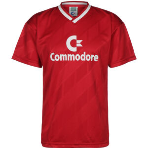 Commodore 1986 Trikot Herren, rot / weiß, zoom bei OUTFITTER Online