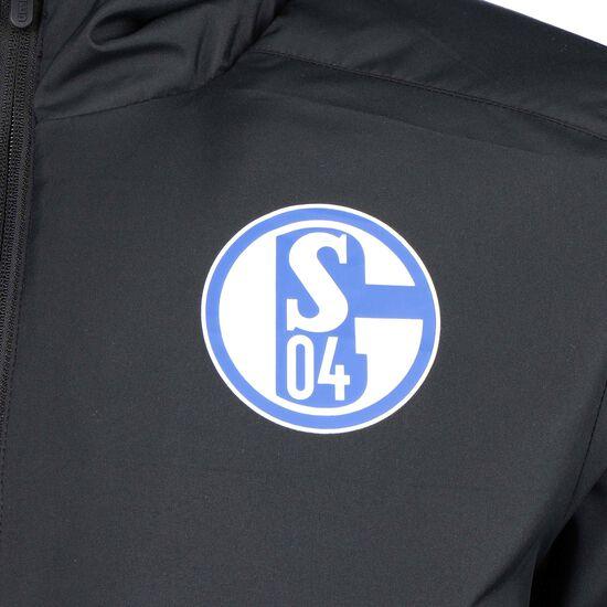 FC Schalke 04 Padded Winterjacke Herren, schwarz / blau, zoom bei OUTFITTER Online