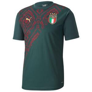 FIGC Italien 3rd Aufwärmshirt EM 2020 Herren, dunkelgrün / rot, zoom bei OUTFITTER Online