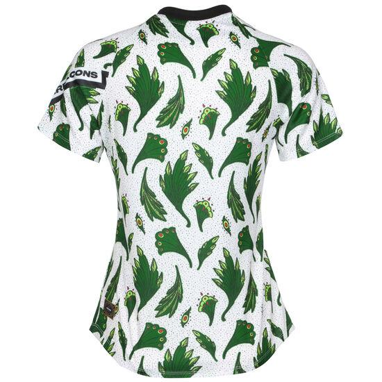 Nigeria Dry Trainingsshirt Damen, weiß / grün, zoom bei OUTFITTER Online