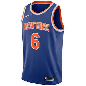 NBA New York Knicks #6 Porzingis Basketballtrikot Herren, blau / orange, zoom bei OUTFITTER Online