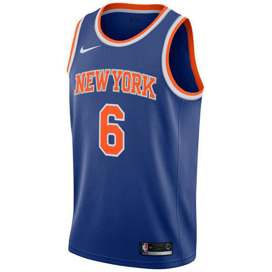 NBA New York Knicks #6 Porzingis Basketballtrikot Herren, blau / orange, zoom bei OUTFITTER Online