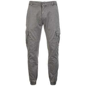Washed Cargo Twill Jogginghose Herren, grau, zoom bei OUTFITTER Online