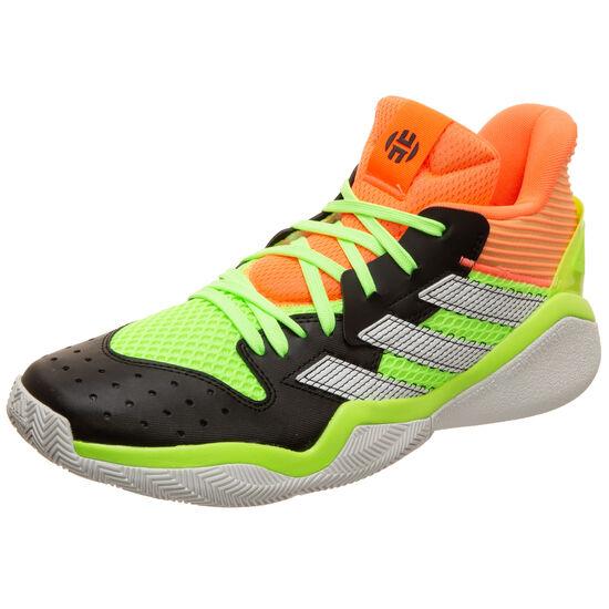 Harden Stepback Basketballschuh Herren, schwarz / neongrün, zoom bei OUTFITTER Online
