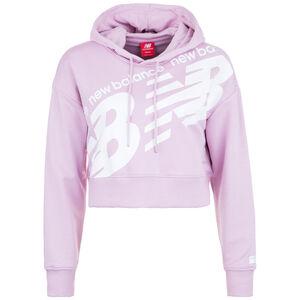 Athletics Cropped Kapuzenpullover Damen, rosa / weiß, zoom bei OUTFITTER Online
