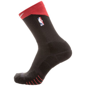 Elite Quick Crew NBA Socken, schwarz / rot, zoom bei OUTFITTER Online