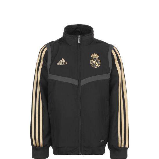 Real Madrid Präsentationsjacke Kinder, schwarz / gold, zoom bei OUTFITTER Online