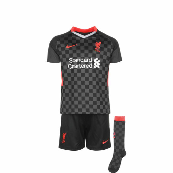 FC Liverpool Minikit 3rd 2020/2021 Kinder, anthrazit / rot, zoom bei OUTFITTER Online