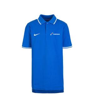 Mainova Club19 TM Poloshirt Kinder, blau / weiß, zoom bei OUTFITTER Online