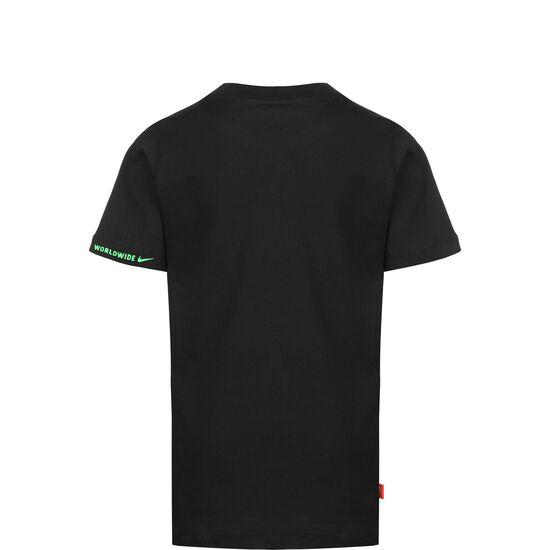 Global T-Shirt Kinder, schwarz / neongrün, zoom bei OUTFITTER Online