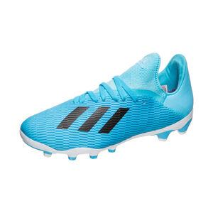 X 19.3 MG Fußballschuh Kinder, hellblau / schwarz, zoom bei OUTFITTER Online