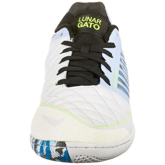 Lunar Gato II Indoor Fußballschuh Herren, hellblau / schwarz, zoom bei OUTFITTER Online