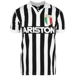 Juventus Turin 1984/1985 Retro T-Shirt Herren, schwarz / weiß, zoom bei OUTFITTER Online