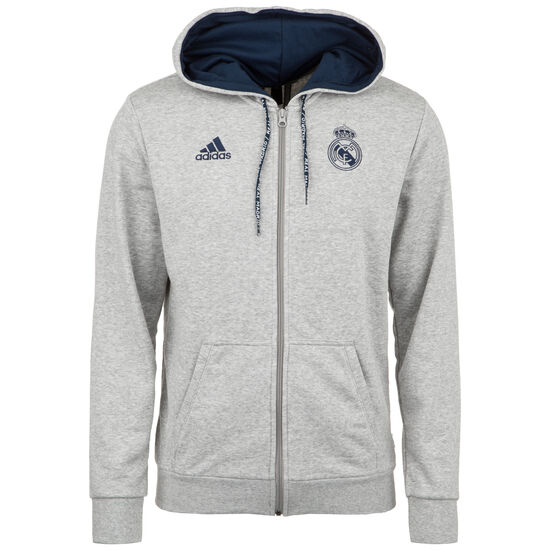 Real Madrid Kapuzenjacke Herren, grau / dunkelblau, zoom bei OUTFITTER Online