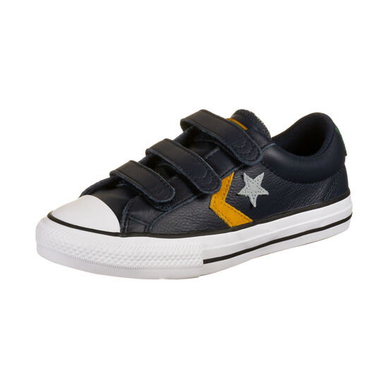 Star Player 3V OX Sneaker Kinder, dunkelblau / dunkelgelb, zoom bei OUTFITTER Online