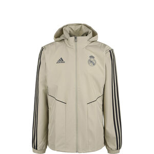 Real Madrid All Weather Jacke Herren, beige / schwarz, zoom bei OUTFITTER Online