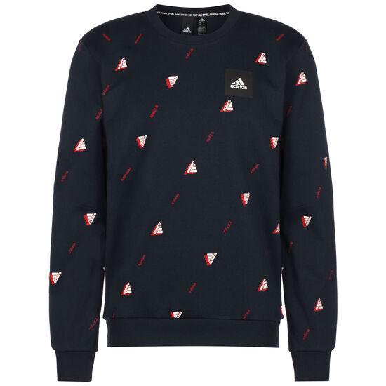 Must Haves Graphic Sweatshirt Herren, dunkelblau / rot, zoom bei OUTFITTER Online
