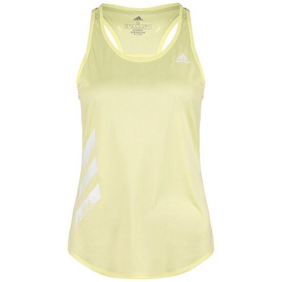 Own the Run 3-Stripes Lauftop Damen, gelb, zoom bei OUTFITTER Online
