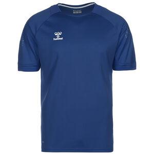 hmlLEAD Poly Fußballtrikot Herren, blau, zoom bei OUTFITTER Online