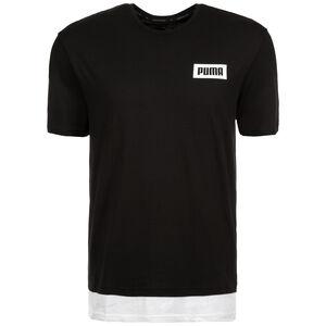 Rebel Trainingsshirt Herren, schwarz / weiß, zoom bei OUTFITTER Online