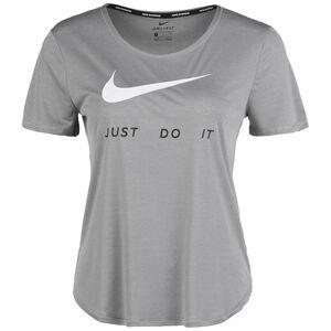 Swoosh Laufshirt Damen, grau / weiß, zoom bei OUTFITTER Online