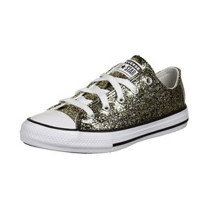 Chuck Taylor All Star Coated Glitter Sneaker Kinder, schwarz / silber, zoom bei OUTFITTER Online