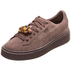 Suede Platform Gem Sneaker Damen, braun, zoom bei OUTFITTER Online