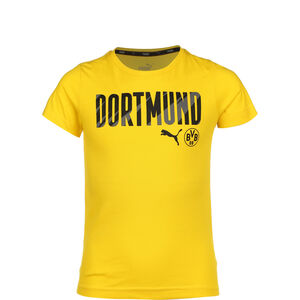 Borussia Dortmund BVB ftblCore Wording T-Shirt Kinder, gelb / schwarz, zoom bei OUTFITTER Online