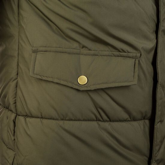 Oversize Faux Fur Puffer Mantel Damen, oliv, zoom bei OUTFITTER Online