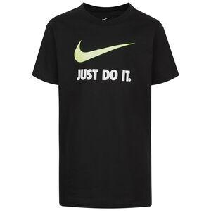 Just Do It Swoosh T-Shirt Kinder, schwarz / neongrün, zoom bei OUTFITTER Online