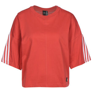 Future Icons 3-Stripes Trainingsshirt Damen, rot / weiß, zoom bei OUTFITTER Online
