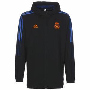 Real Madrid Präsentationsjacke Herren, schwarz / blau, zoom bei OUTFITTER Online