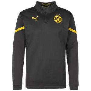 Borussia Dortmund Prematch 1/4 Zip Sweatshirt Herren, grau / gelb, zoom bei OUTFITTER Online