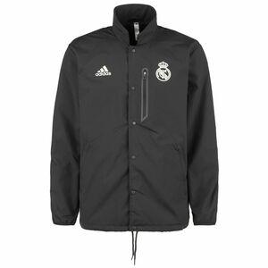 Real Madrid Travel Coach Jacke Herren, anthrazit / weiß, zoom bei OUTFITTER Online