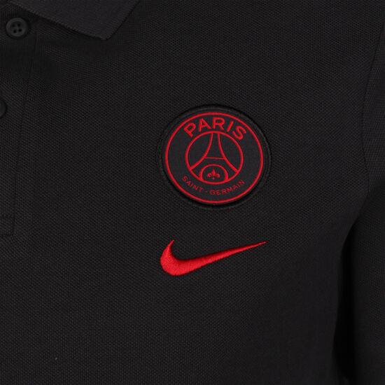 Paris St.-Germain Poloshirt Herren, schwarz / rot, zoom bei OUTFITTER Online