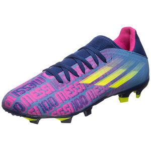 X Speedflow Messi.3 FG Fußballschuh Herren, blau / pink, zoom bei OUTFITTER Online