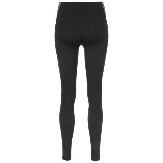 One PP5 Colorblock Trainingstight Damen, schwarz / gold, zoom bei OUTFITTER Online