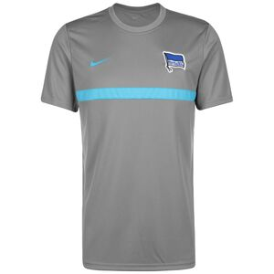 Hertha BSC Academy Pro Trainingsshirt Herren, grau / türkis, zoom bei OUTFITTER Online