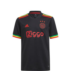 Ajax Amsterdam Trikot 3rd 2021/2022 Kinder, schwarz / rot, zoom bei OUTFITTER Online