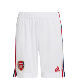 FC Arsenal Shorts Home 2021/2022 Kinder, weiß / rot, zoom bei OUTFITTER Online
